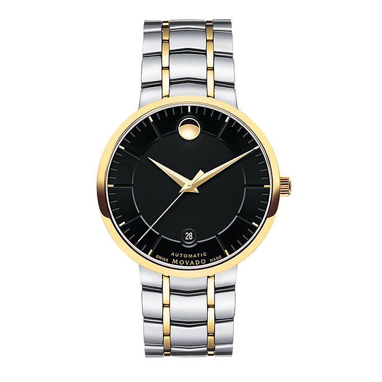 Movado 1881 men's two colour black dial bracelet watch - Product number 3572234