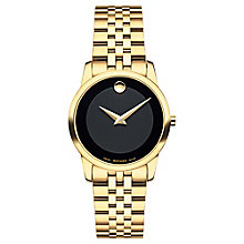 Movado Museum Ladies' Gold-plated Black Dial Bracelet Watch - Product number 3572668