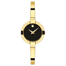 Movado Bela Ladies' Gold-plated Black Dial Bracelet Watch - Product number 3572862