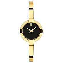 Movado Bela Ladies' Gold-plated Black Dial Bracelet Watch - Product number 3572862