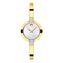 Movado Bela Ladies' Gold-plated Stone Set Bracelet Watch - Product number 3572897