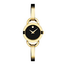 Movado Rondiro ladies' gold-plated black dial bracelet watch - Product number 3572943