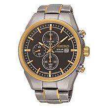 Seiko Solar Men's Titanium Two Colour Bracelet Watch - Product number 3572986