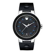 Movado Sport Edge men's two colour black dial strap watch - Product number 3573001