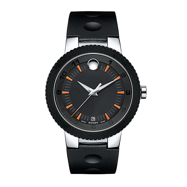 Movado Sport Edge men's two colour black dial strap watch - Product number 3573044