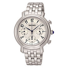 Seiko Ladies' Silver Dial Stainless Steel Bracelet Watch - Product number 3573117