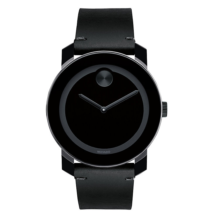 Movado Bold men's ion-plated TR90 leather strap watch - Product number 3573311