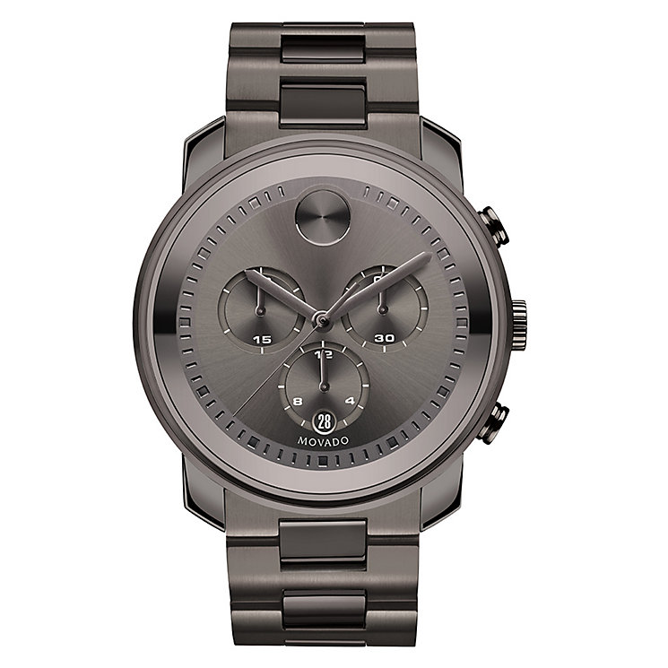Movado Bold men's grey PVD ion plated bracelet watch - Product number 3573516