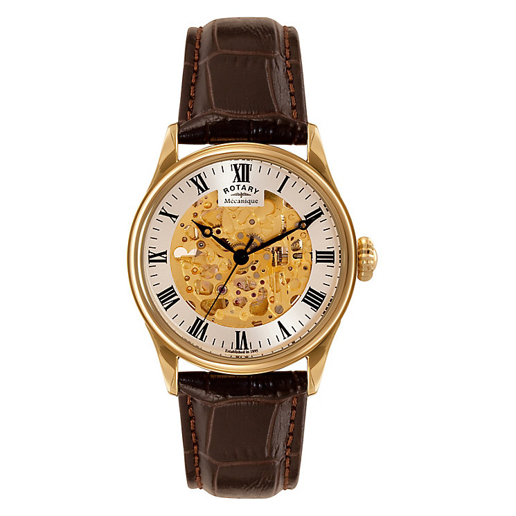 Rotary men's gold-plated skeleton watch - Product number 3573613