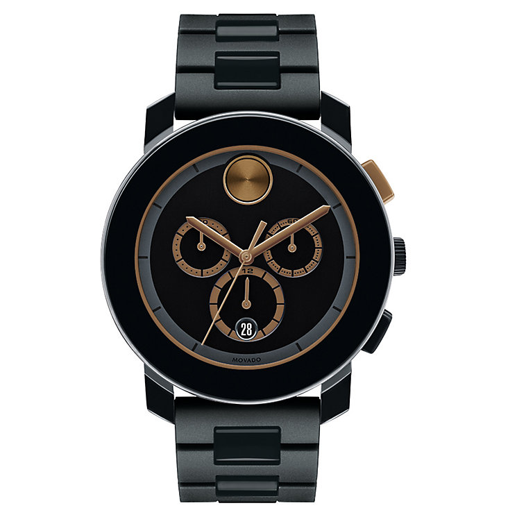 Movado Bold men's two colour TR90 bracelet watch - Product number 3573796