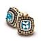 Le Vian 14ct Honey Gold aquamarine & diamond earrings - Product number 3573877