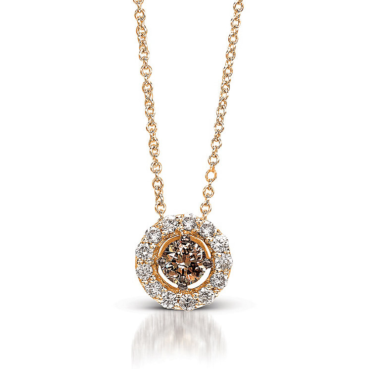 Le Vian 14ct Strawberry Gold diamond Pendant - Product number 3574075