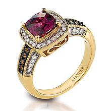 Le Vian 14ct Honey Gold diamond & rhodolite ring - Product number 3574121