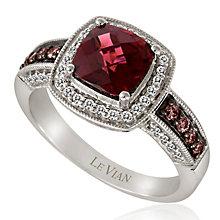 Le Vian 14ct Vanilla Gold diamond & rhodolite ring - Product number 3574466