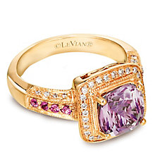 Le Vian 14ct Honey Gold Diamond & Amethyst Ring - Product number 3575640