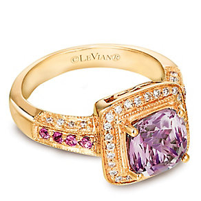 Le Vian® 14ct Honey Gold™ Diamond & Amethyst Ring - Product number 3575640