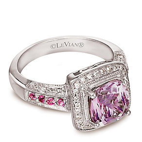 Le Vian 14ct Vanilla Gold Diamond & Amethyst Ring - Product number 3575772
