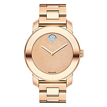 Movado Bold ladies' rose gold-plated bracelet watch - Product number 3576086