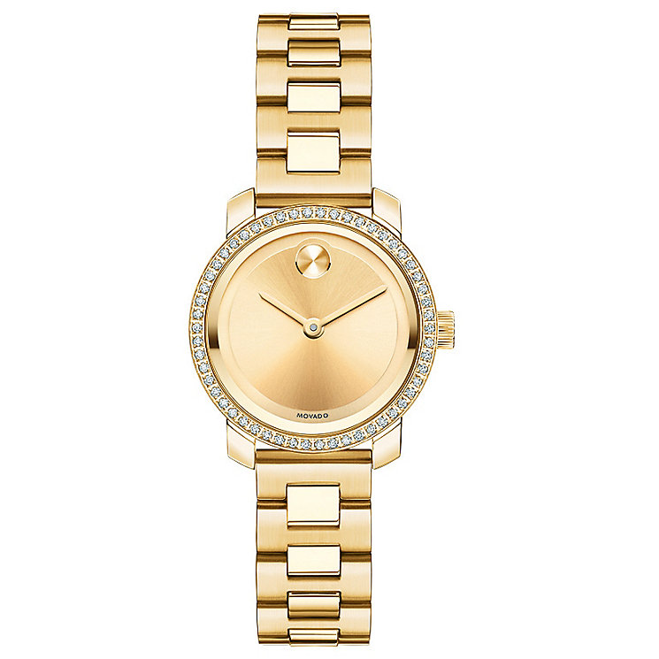 Movado Bold ladies' gold plated mini bold bracelet watch - Product number 3576108