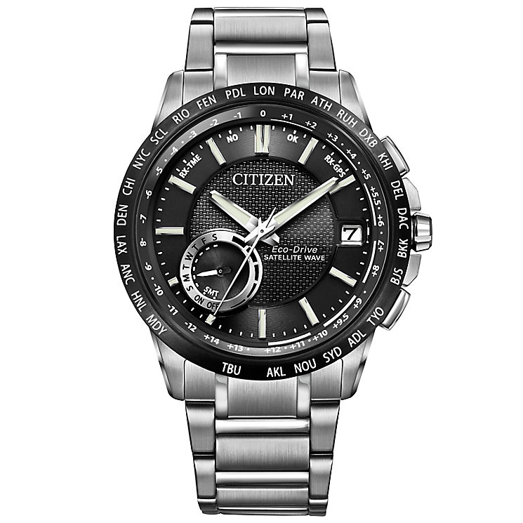 Citizen Satellite Wave Stainless Steel Bracelet Watch - Product number 3576353