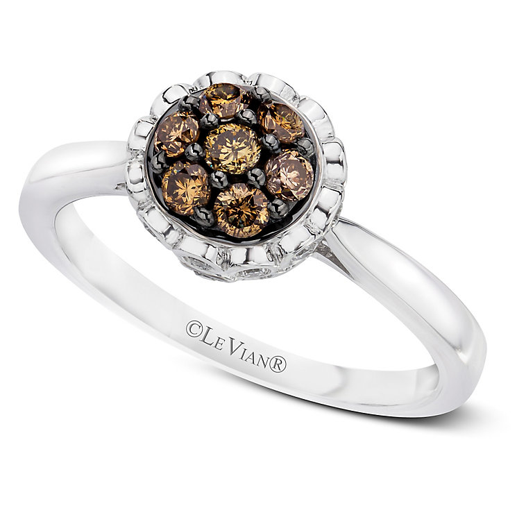 Le Vian 14ct Vanilla Gold Chocolate Diamond ring - Product number 3577384
