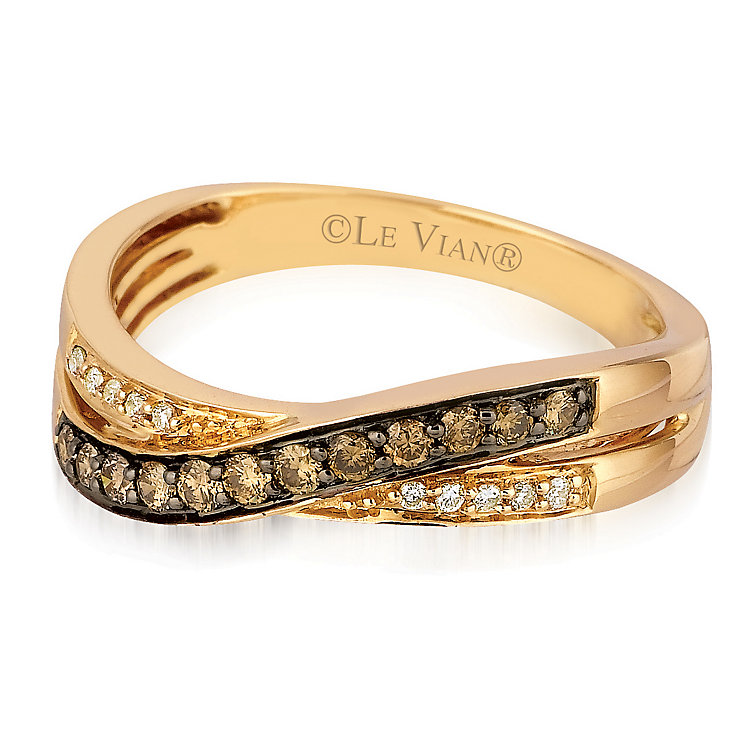 Le Vian 14ct Strawberry Gold Chocolate Diamond Ring - Product number 3577783