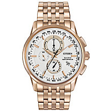 Citizen World Chronograph Men's Rose Gold-Plated Watch - Product number 3577910