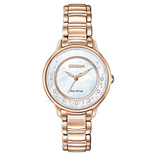 Citizen Eco-Drive Ladies' White Dial Diamond Bracelet Watch - Product number 3578771