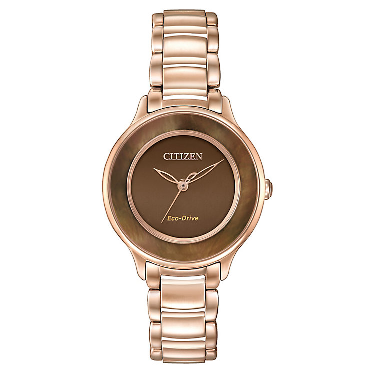 Citizen Eco-Drive Ladies' Rose Gold-Plated Bracelet Watch - Product number 3578941