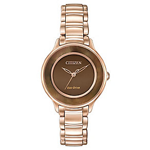 Citizen Eco-Drive Ladies' Gold-plated Bracelet Watch - Product number 3578941