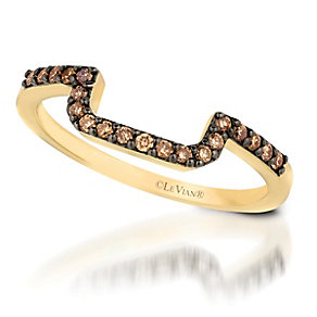 Le Vian 14ct Honey Gold Chocolate Diamond band - Product number 3579441