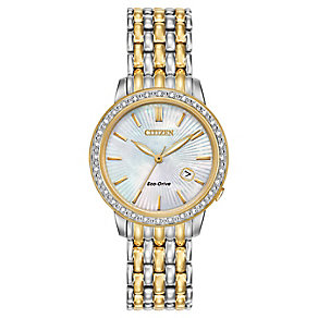 Citizen Eco-Drive Ladies' Two Colour Bracelet Watch - Product number 3579859