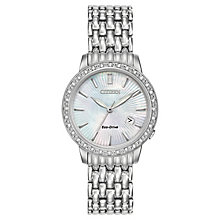 Citizen Ladies' Stone Set Stainless Steel Bracelet Watch - Product number 3580679
