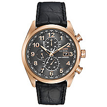 Citezen Eco-Drive Men's Gold Plated Strap Watch - Product number 3581861