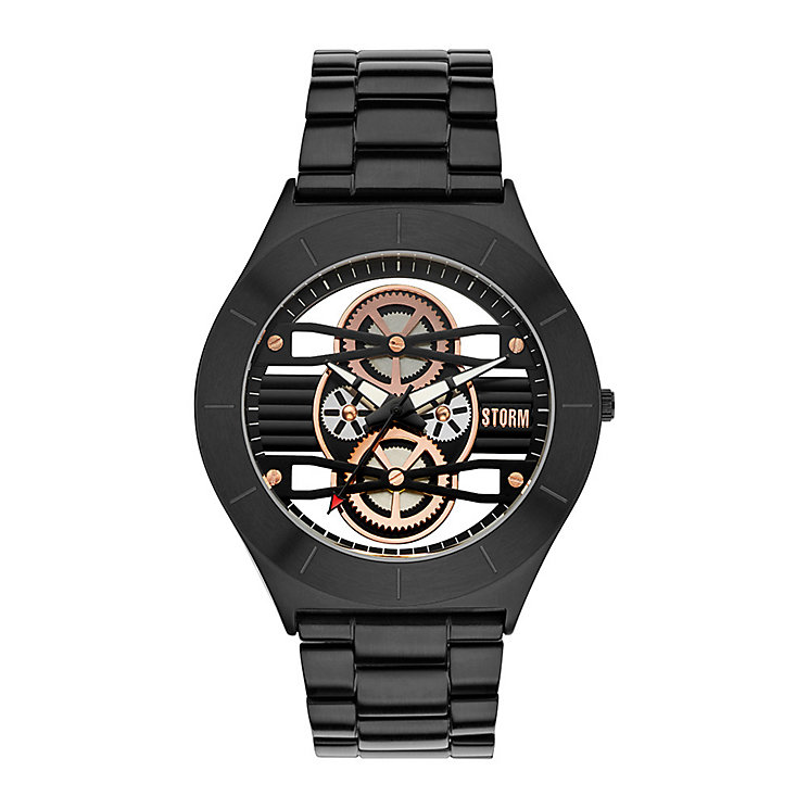 STORM Cognition Men's Black Stainless Steel Bracelet Watch - Product number 3583953