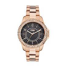STORM Zirona Crystal Ladies' Rose Gold Plated Bracelet Watch - Product number 3584100