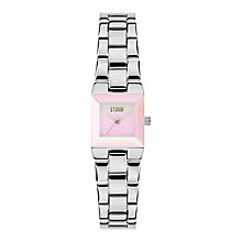 STORM Bia Ladies' Pink Dial Stainless Steel Bracelet Watch - Product number 3584127