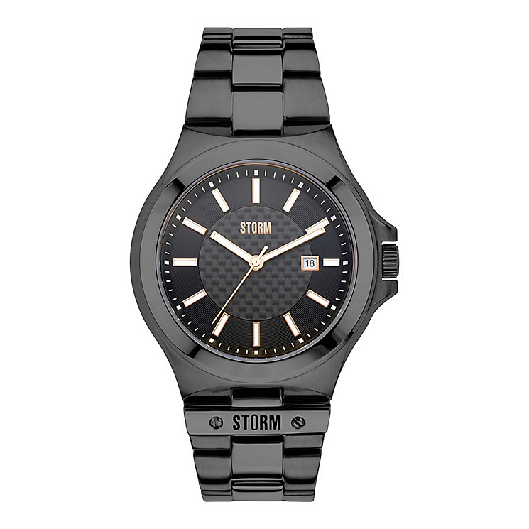 STORM Tyron Men's Slate Stainless Steel Bracelet Watch - Product number 3584224