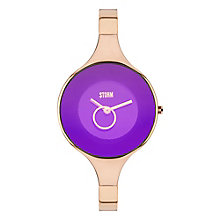 STORM Ola Ladies' Purple Dial Rose Gold-Plated Bangle Watch - Product number 3584321