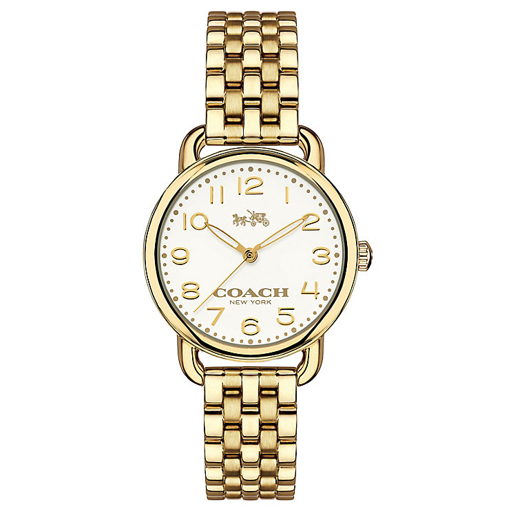 Coach ladies' gold-tone bracelet watch - Product number 3584364