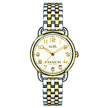 Coach ladies' two colour bracelet watch - Product number 3584429