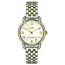 Coach ladies' two colour bracelet watch - Product number 3584429