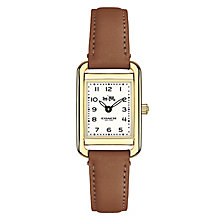 Coach ladies' gold-tone brown strap watch - Product number 3584461
