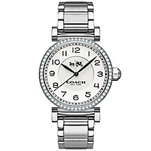 Coach ladies' stainless steel stone set bracelet watch - Product number 3584798