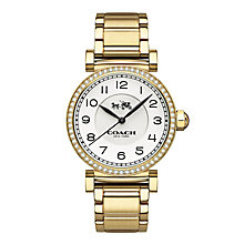 Coach ladies' gold-tone stone set bracelet watch - Product number 3584801