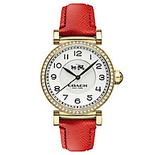 Coach ladies' gold-tone stone set strap watch - Product number 3585018