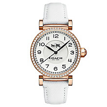 Coach ladies' rose gold-tone stone set strap watch - Product number 3585026