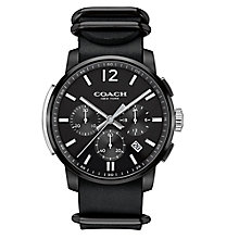 Coach Men's Ion-plated Black Dial Strap Watch - Product number 3585093