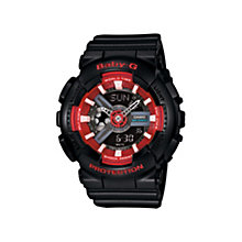 Casio Baby-G ladies' red & black rubber strap watch - Product number 3588661