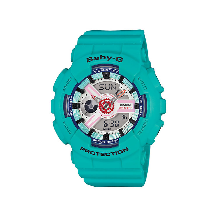 Casio Baby-G ladies' turquoise rubber strap watch - Product number 3588688